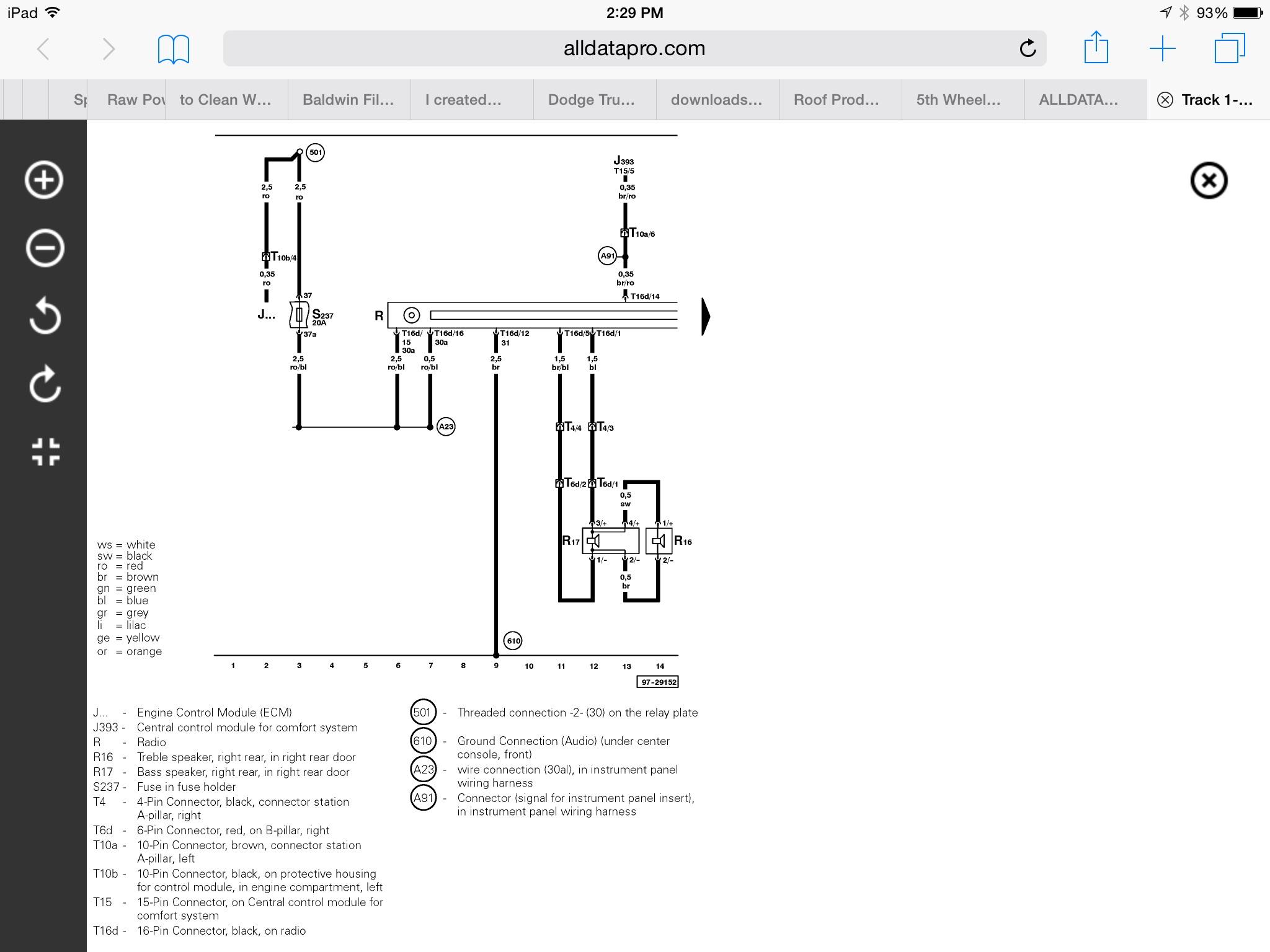 2013 Passat Stereo Wiring Diagram