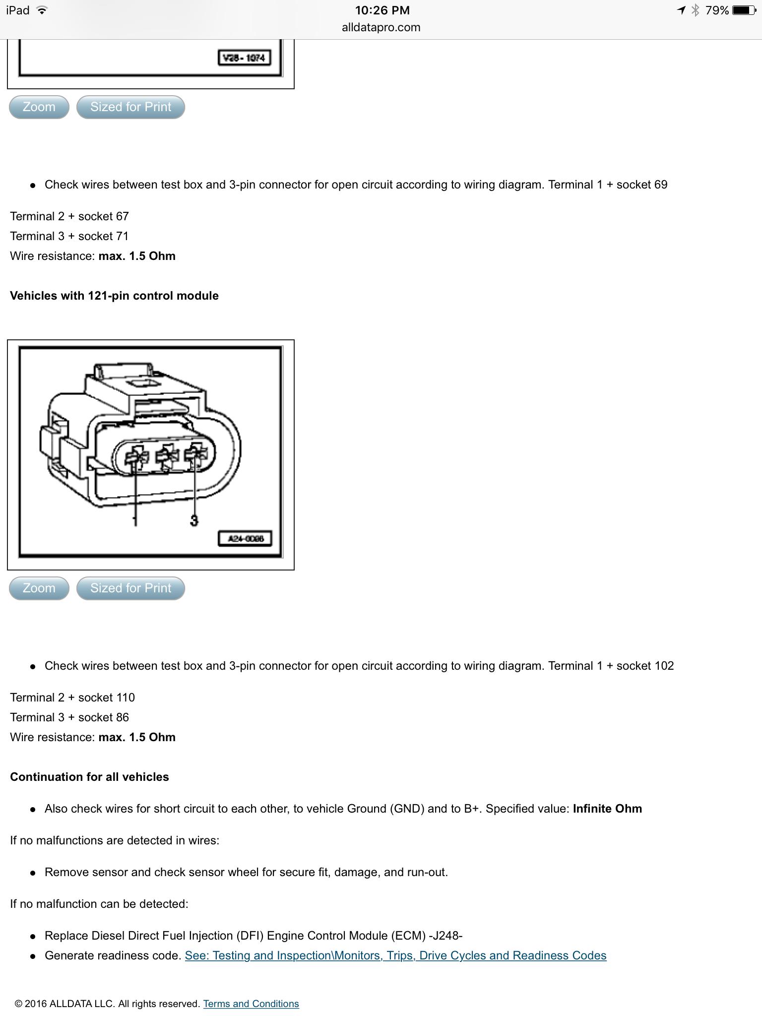 How to test crank sensor   TDIClub ForumsTDIClub Forums