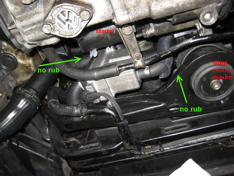 engine coolant block heater installation on tdi frostheater vw try to install the hoses so that they are not under stress and not chaffing against anything especially electrical wires