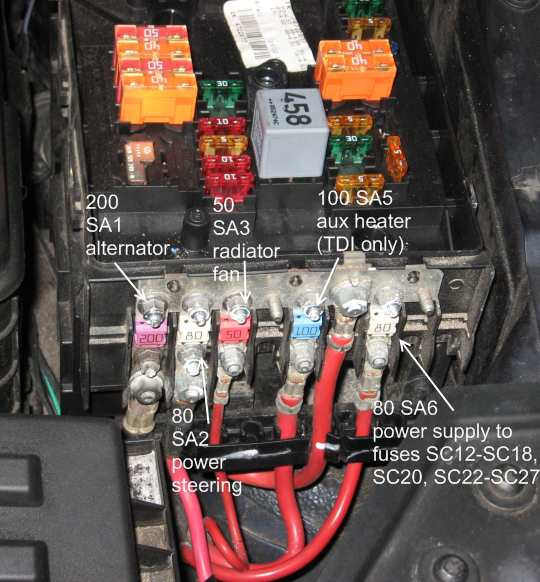 a5fuse battery removal and battery shelf removal on mk5 vw and audi vw Battery Terminal Fuse Holder at webbmarketing.co