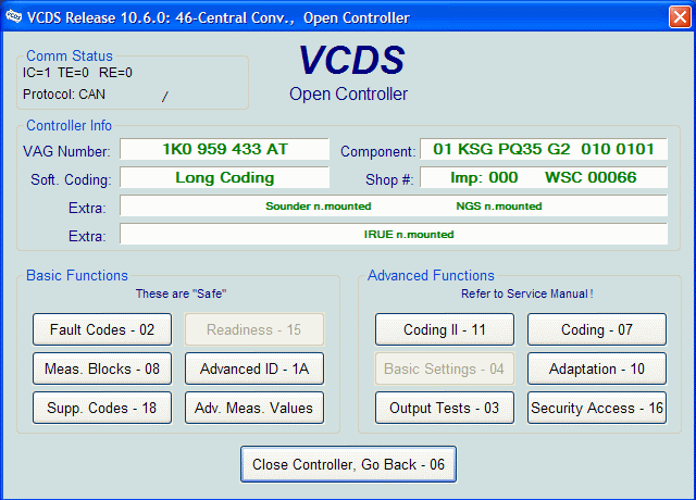 VCDS (vag com) tweaks and modification settings in the