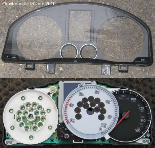 Instrument cluster removal, high beam indicator, and speedometer