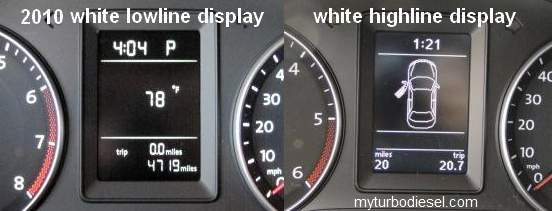 Multifunction display (MFI or MFD) FAQ and menu settings --mk5/mk6