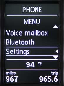 golf tdi bluetooth menu settings