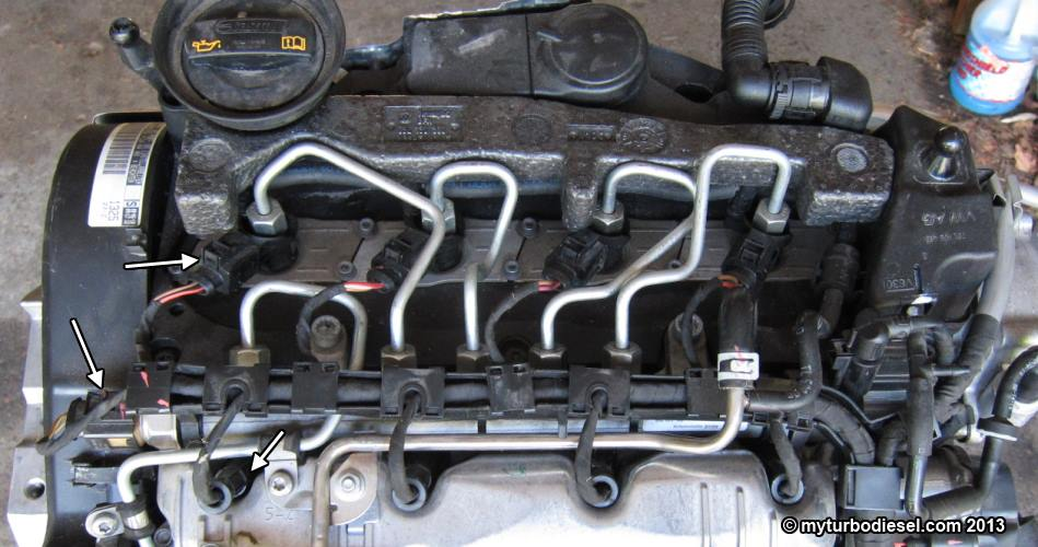 Fuel injector and valve cover removal - CJAA/CBEA 2 0 TDI engine