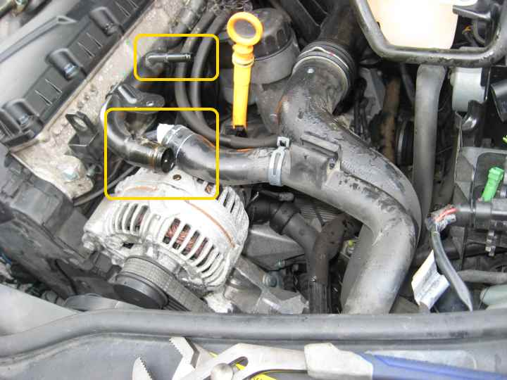 Coolant Flush And Bleeding Vw Passat Tdi B5 Forum Audi Rhmyturbodiesel: Location Thermostat 2005 Vw Pat Tdi At Elf-jo.com