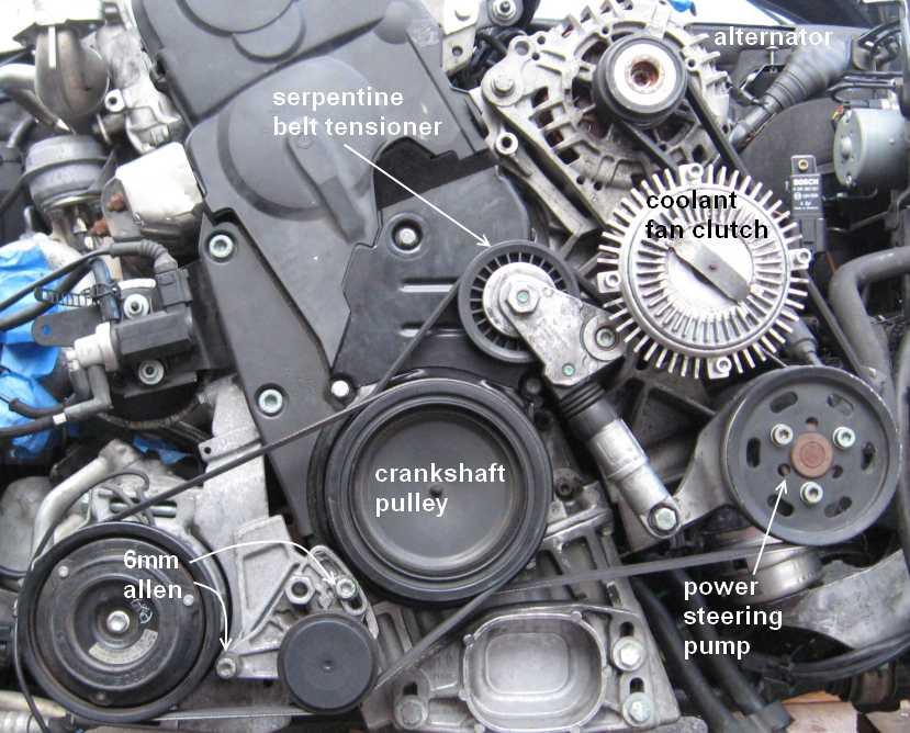 Serpentine And Ac Belt Removal B5 Pat Tdi Vw Forum Audi